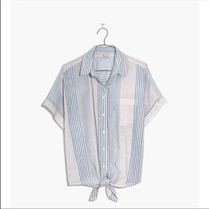 Madewell Tie Front Button Down Shirt